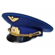 Фуражка офицерская ВВС синего цвета